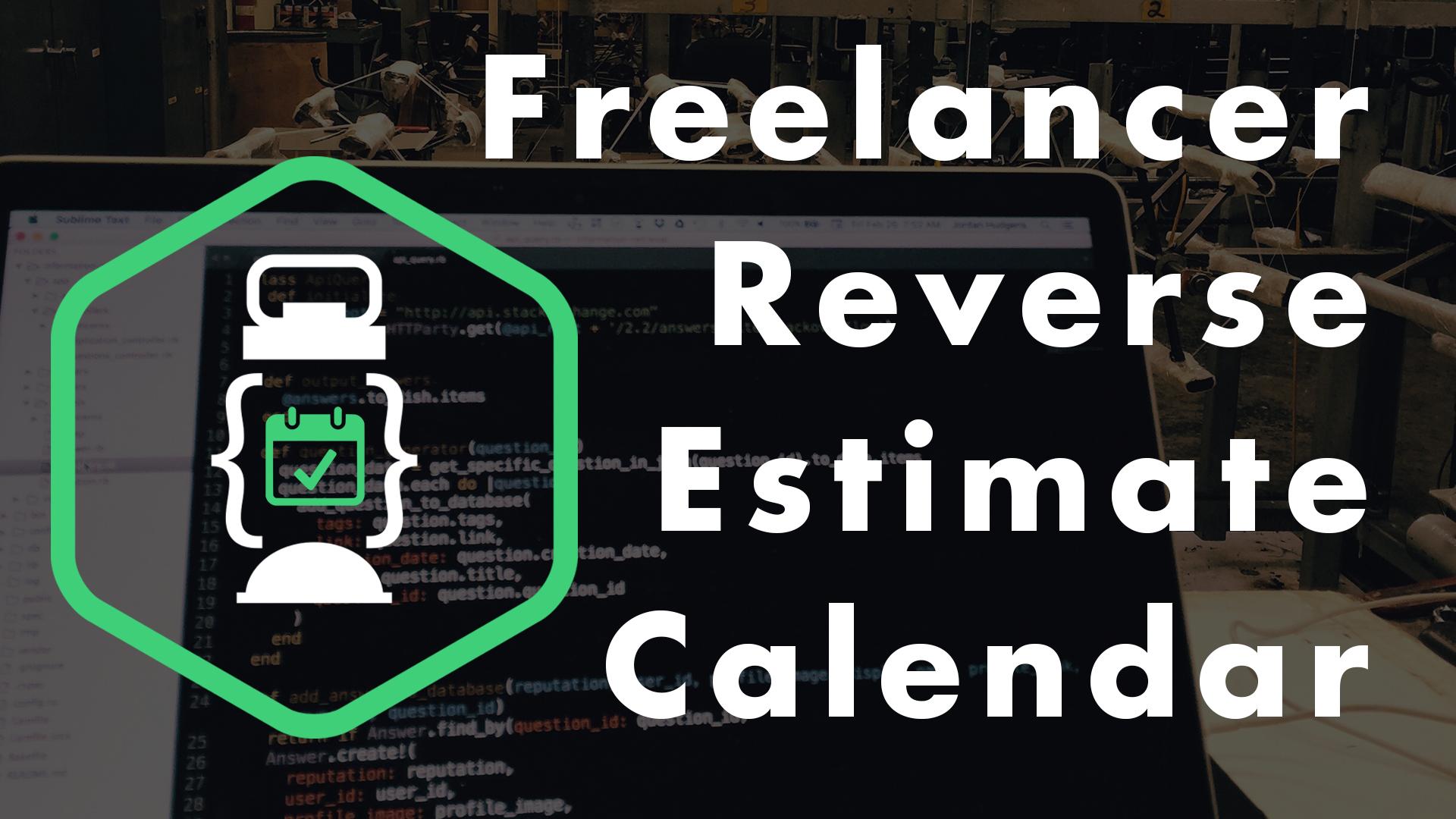 reverse development calendar